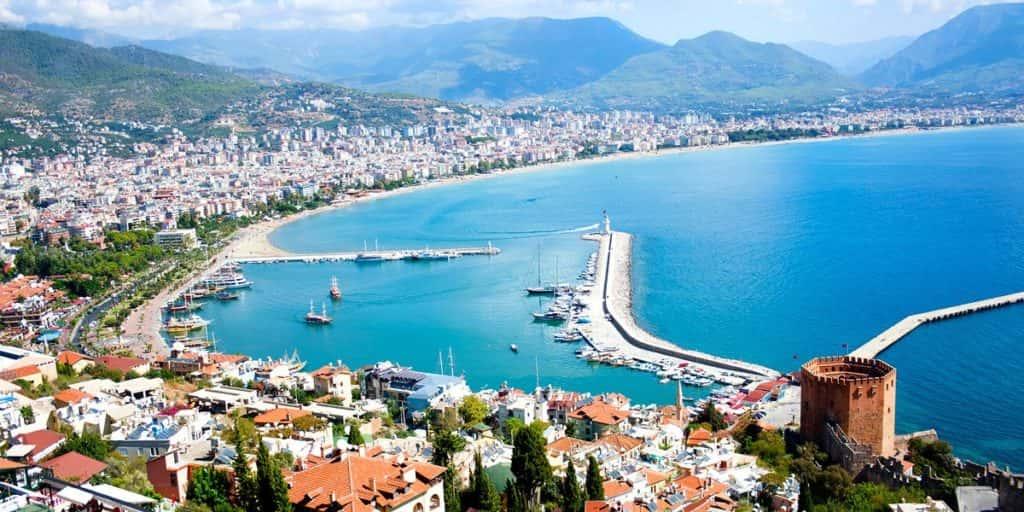 Карта Турции с курортами - летние горнолыжные и термальные