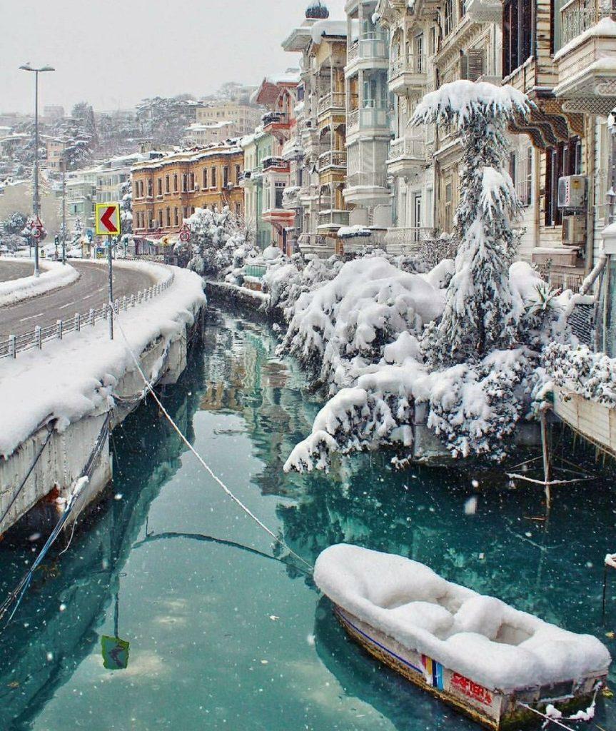 Стамбул в зимнее время